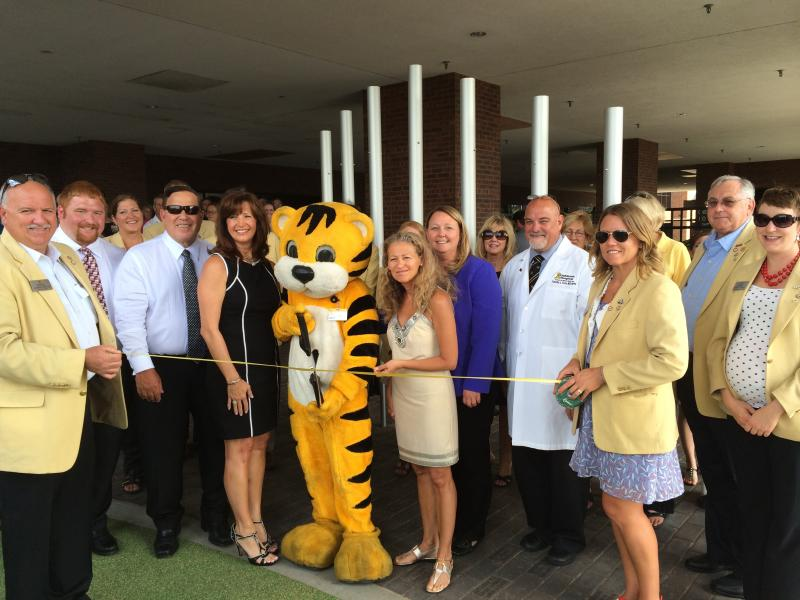 The Ribbon cutting ceremony at the MU Childrens Hospital new playground