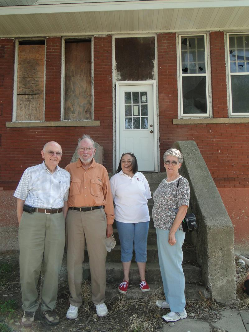 Local residents working to preserve Kirksville's Lincoln School are from left top right John Frost, John Settlege, Claudia Minor and Jackie Settlege.