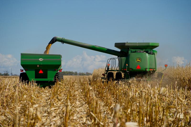 Expectations of a bumper crop of corn has caused both prices and farm profit expectations to drop.