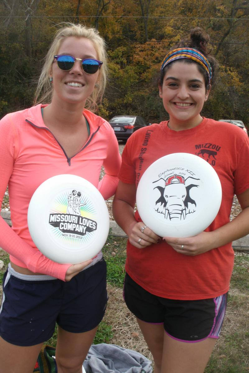Paige Plier and Shannon Kelly are both members of the MU women's Ultimate team.