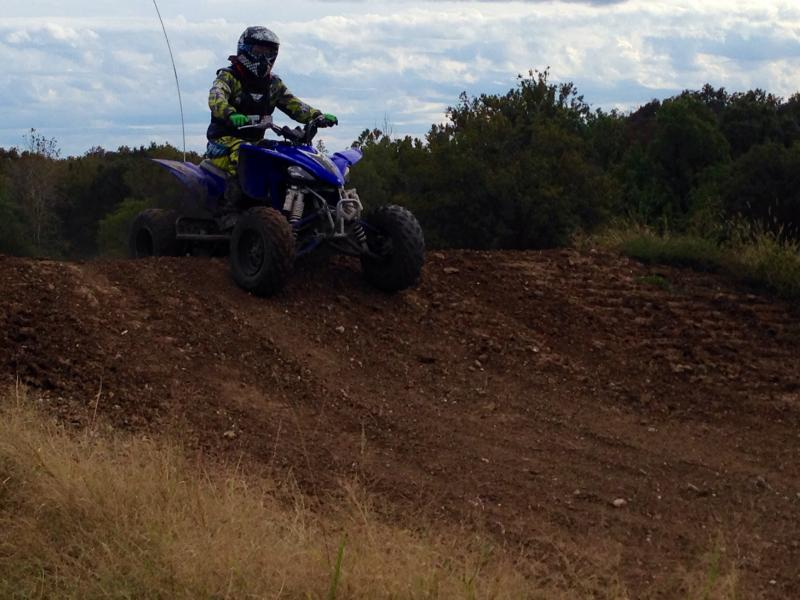 Matt Gibbens riding his ATV at Finger Lakes State Park.