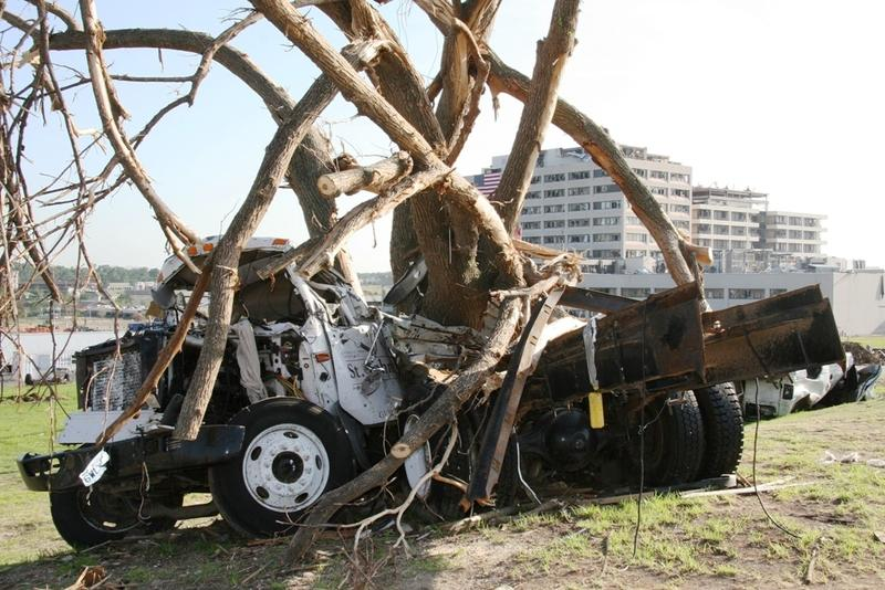 A truck left in front of St. John's Medical Center in Joplin, Mo. after an EF5 tornado in 2011. Last week, Kansas City University of Medicine and Biosciences announced it would open a medical school in the city in 2017.