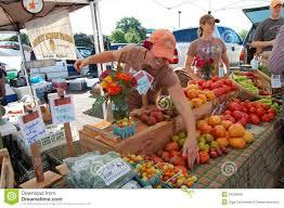 Farmers agree that tomatoes always sell well at the Farmers' Market.