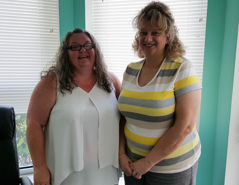 Roxanna Leavell (left) and Patty Hendren are certified application counselors with Randolph County Caring Community Partnership, who help consumers find insurance through the federal marketplace.