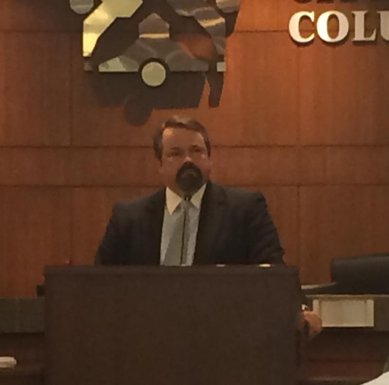 Columbia City Manager Mike Matthes spoke about the city's new strategic plan Thursday before it is presented to the city council on September 8th.
