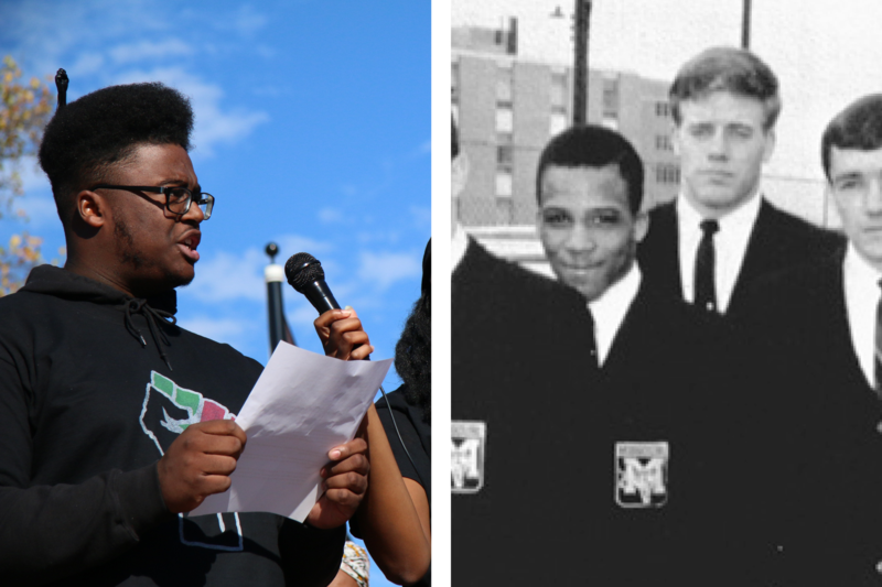 Marshall Allen and Howard Taylor, two student activists at MU - fifty years apart.