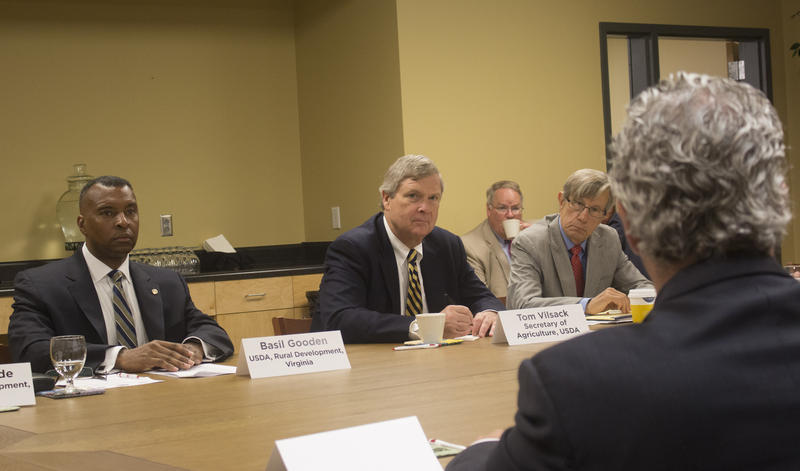 U.S. Agriculture Secretary Tom Vilsack at a roundtable discussion on the opioid epidemic earlier this year.