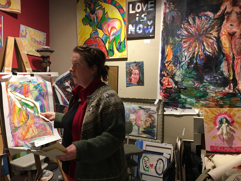 Dareth Goettemoeller in her studio at Orr Street Studios.