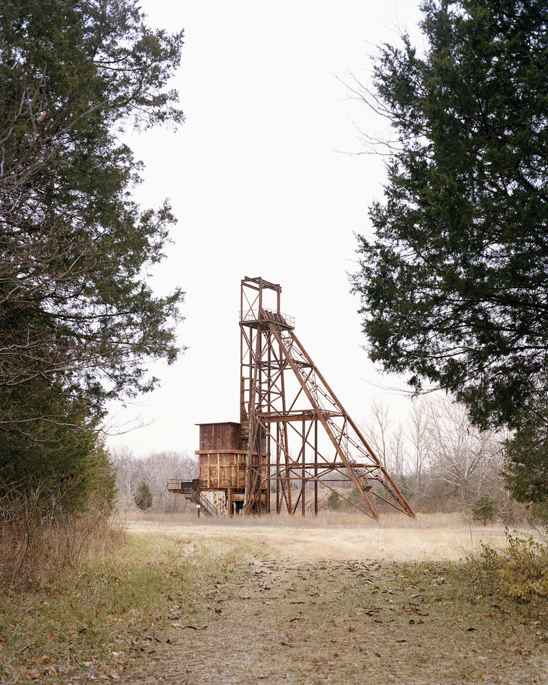 The remains of the headframe for shaft #25 in what is now St. Joe State Park.