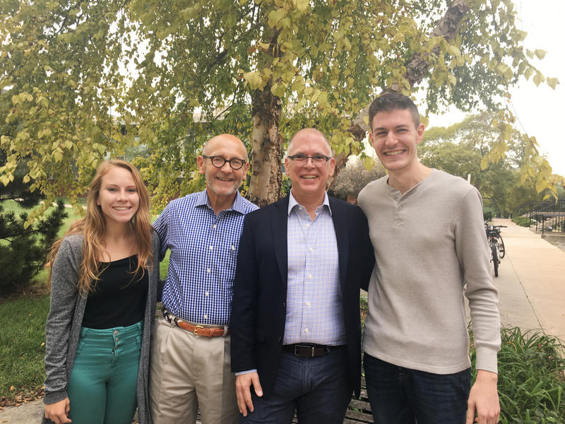 From left to right: Samantha Koester, Timothy Blair, Jim Obergefell and T.J. Thomson.