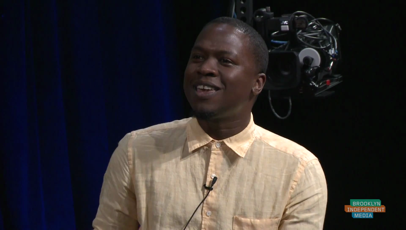Juan Thompson speaks at a 2015 Brooklyn Independent Media event.