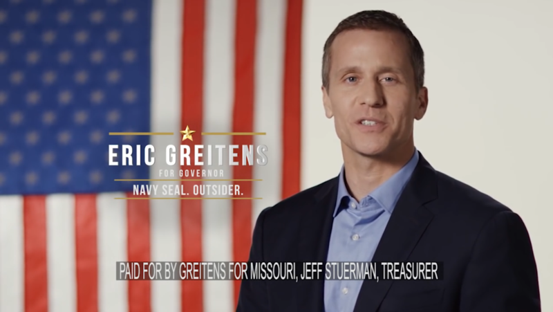 Gov. Eric Greitens in a 2016 campaign commercial.