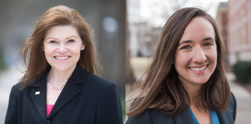 Renee Hoagenson (left) and Hallie Thompson are competing in the Democratic primary election for Missouri's 4th Congressional District.