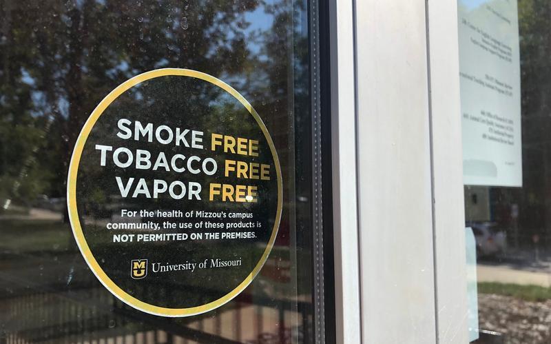 """Smoke Free"" sign on the MU Campus"