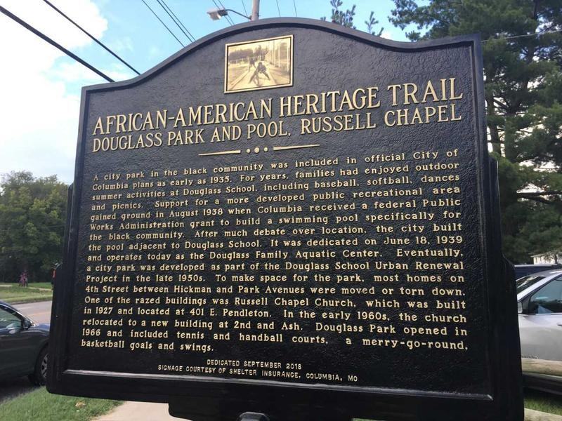 African-American Heritage Trail plaque