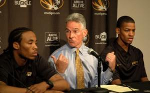 Mike Alden with Marcus Denmon and Kim English
