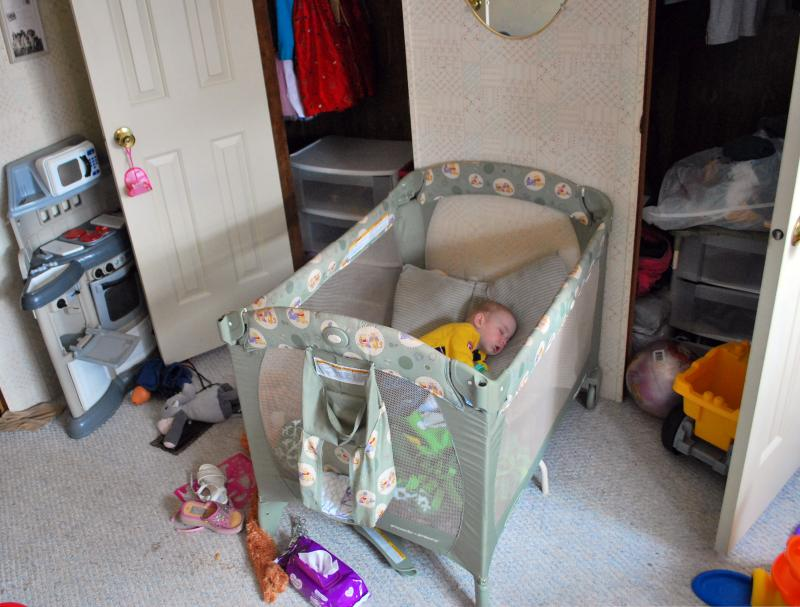 One-year-old Bryce Grawe sleeps in his crib at his family's home in Macon, Mo. When he was born, doctors in Moberly thought his heart was abnormally large, but doctors in Columbia determined otherwise.