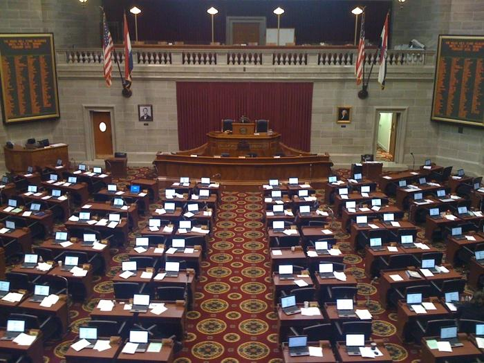 The Mo. House gave first-round approval to bill granting tax breaks to auto manufacturers.