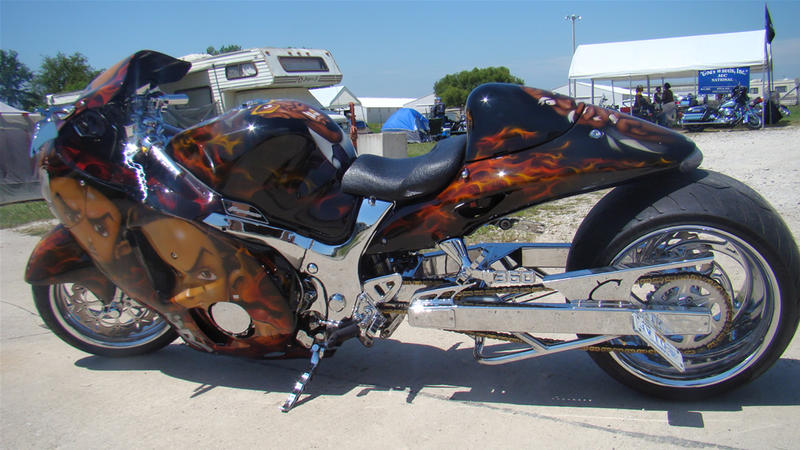 Motorcycle with custom Boondocks paint