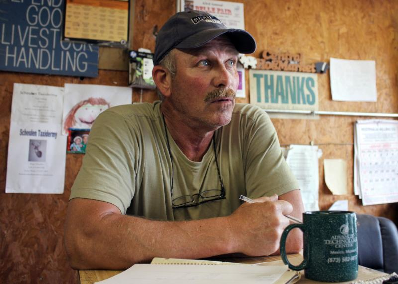 Rick Bax, an independent hog broker in Osage County, Mo., is wary of special interest groups' involvements in agriculture policy. (Jessica Naudziunas/Harvest Public Media)
