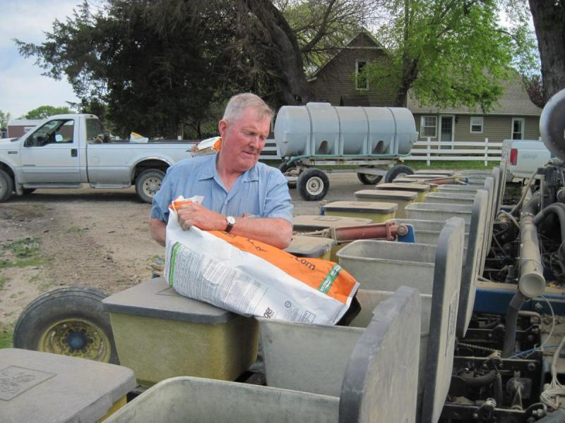 By late May, David Hausman plans to plant soybeans on top of oats on his flood-ravaged field.