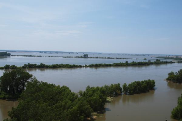 Flooding along the Missouri River in 2011.