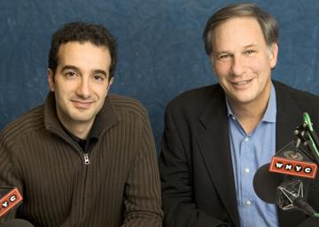 Jad Abumrad (left) and Robert Krulwich (right) host Radiolab