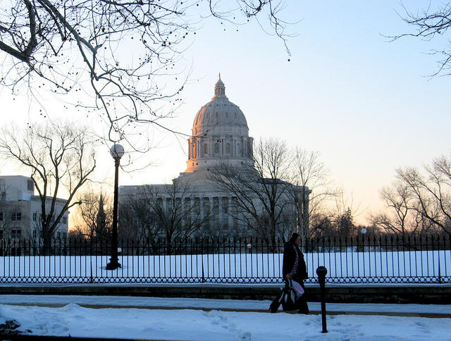 Jefferson City in the snow