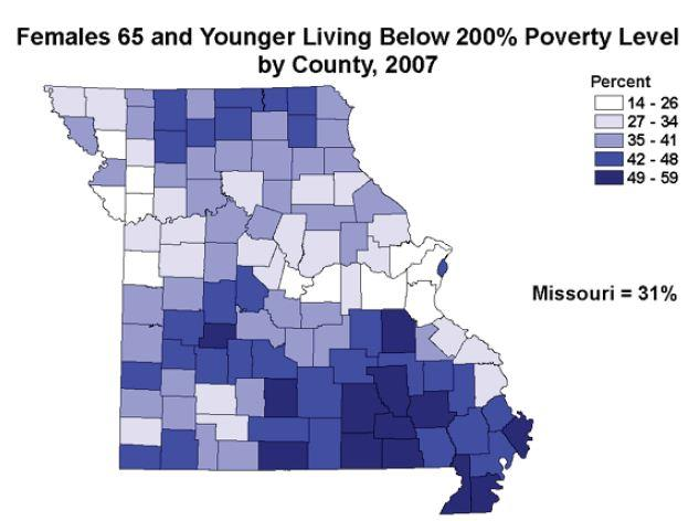 This map shows the bad news: more women than men live in poverty.