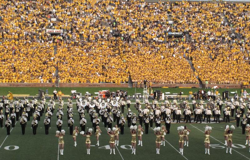 Marching Mizzou at halftime