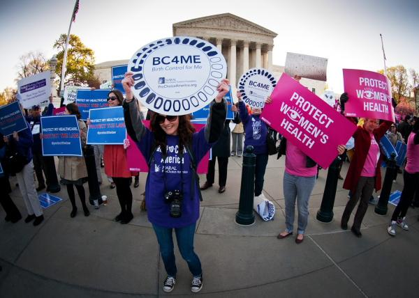 Supporters and opponents of the Affordable Care Act hold competing rallies outside the Supreme Court this week.