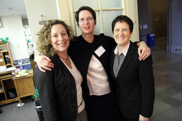 Women's Policy Alliance board members, from left to right: Kristin Metcalf-Wilson, Margaret Eaton, and Carolyn Sullivan