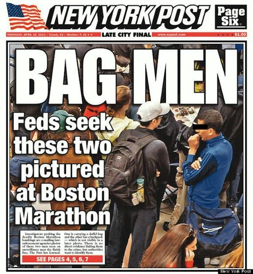 New York Post's 'Bag Men' front page