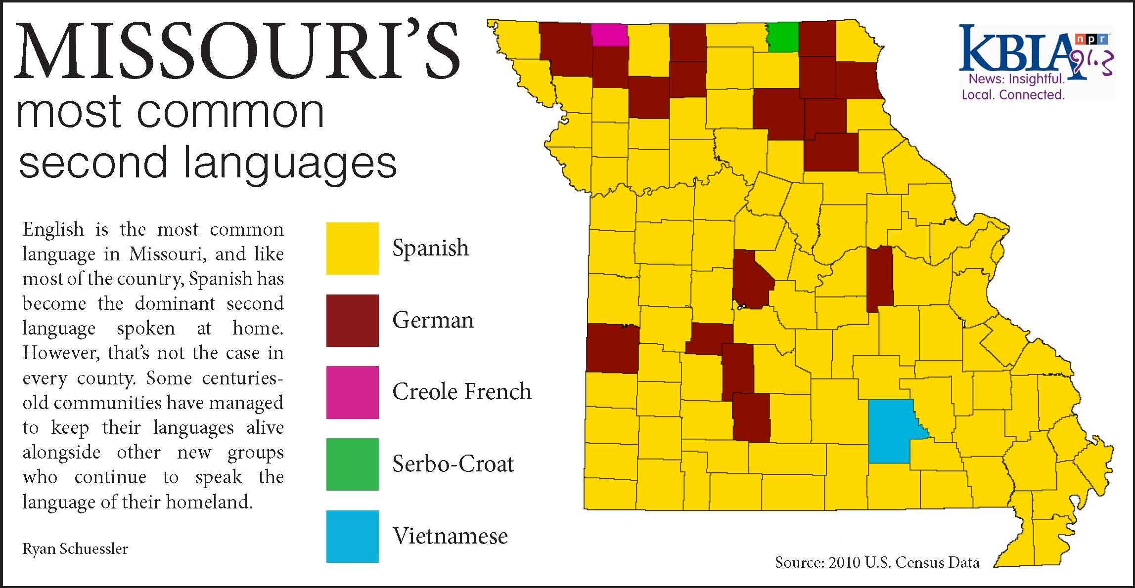 Mapping Missouris Second Languages KBIA - Languages spoken by country