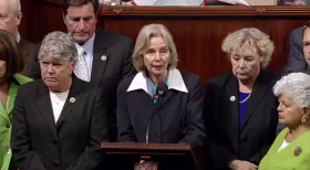 Congresswoman Lois Capps calling for a moment of silence in the House of Representatives on Wednesday.