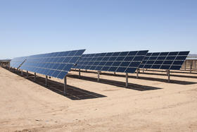 Solar installation at Avra Valley, Arizona, a project similar to the installation planned for Cuyama.
