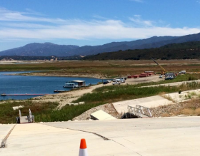 Coroner arrives at Cachuma Lake following the discover of 22-year-old Isaiah Sanchez's body.