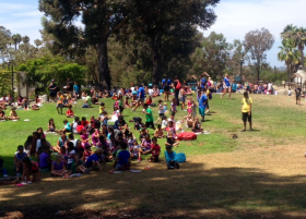 More than 400 kids turned out Friday at Chase Palm Park in Santa Barbara for the Food4Kids concert and lunch.
