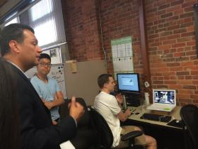 Sen. Alex Padilla stops at the SLO Hot House during his Thursday visit.