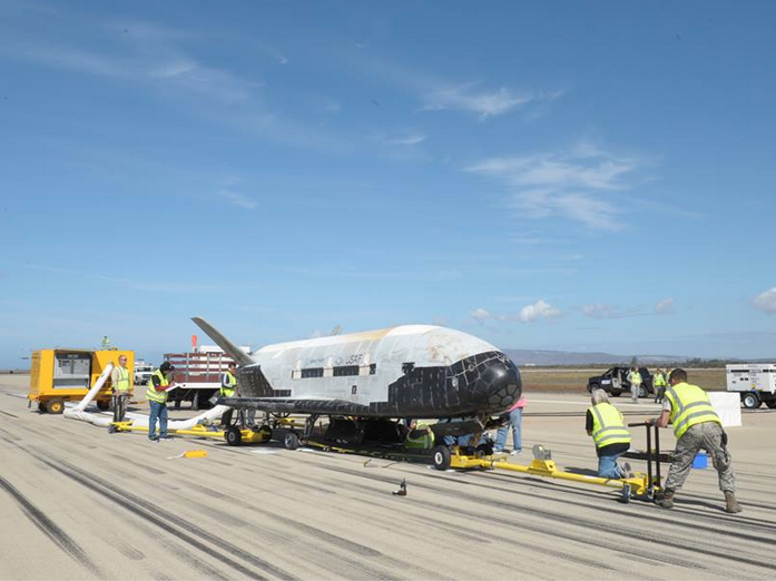 watch reusable space plane successfully lands at vandenberg air force base