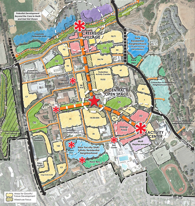 Plan Concept cal poly releases options for s 20 year master plan kcbx
