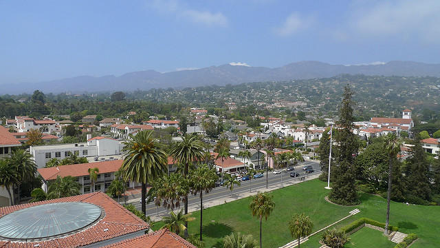 Downtown Santa Barbara As Seen From The Courthouse