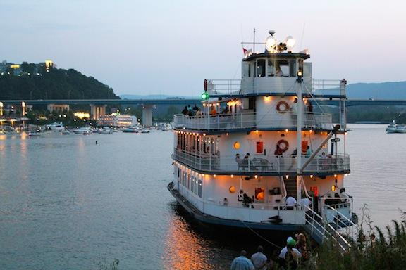 Life on the river in Chattanooga thrives night and day