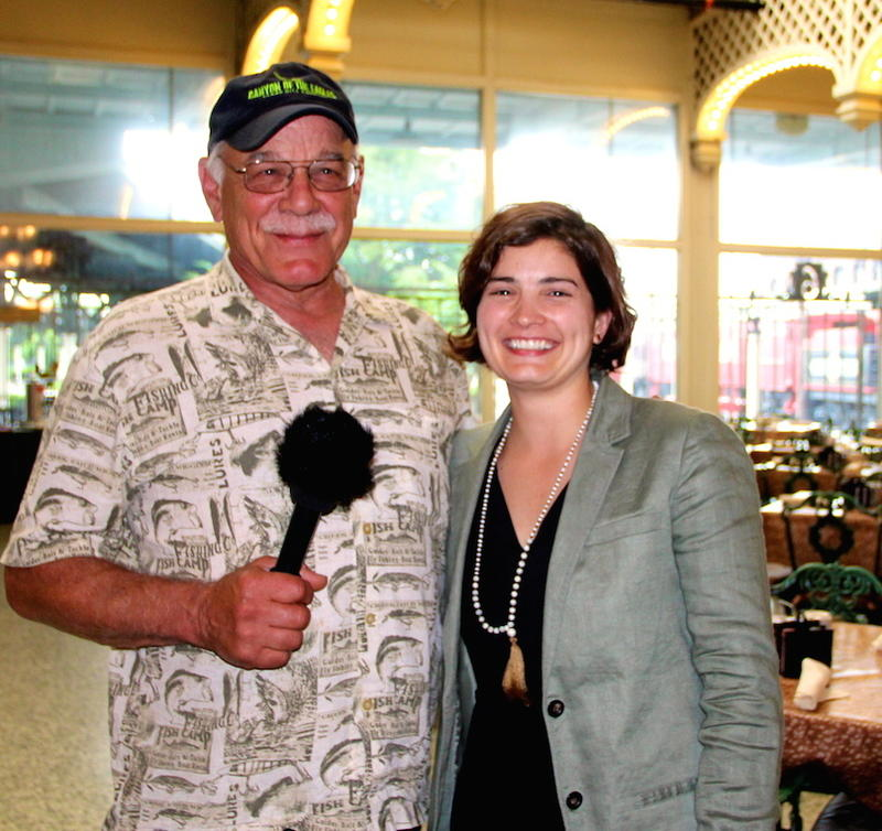 Correspondent Tom Wilmer visits with Mary Howard Ade
