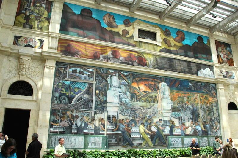 Diego Rivera's circa-1923 timeless metaphor for Detroit's backbone