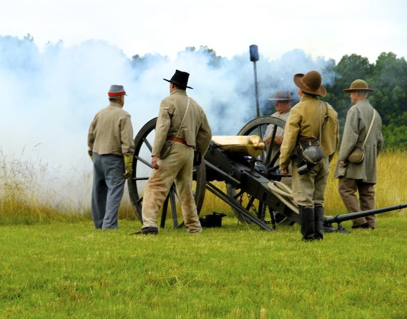 Civil War Chicamauga Battlefield on the outskirts of Chattanooga