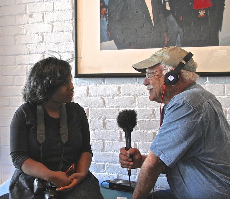 Shanel Adams, Social Media Coordinator at Motown Records Museum talks with correspondent, Tom Wilmer