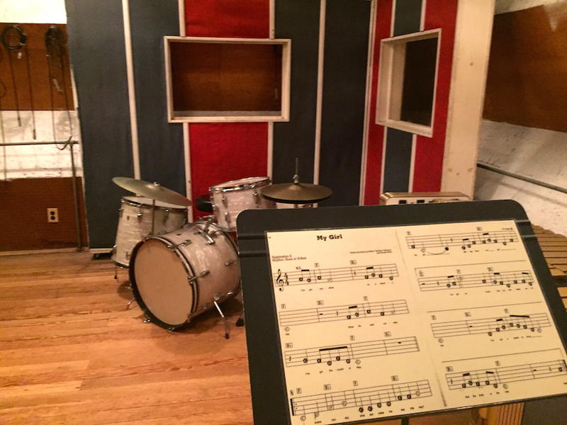 """My Girl"" sheet music in ""Studio A"" Motown Records Museum"