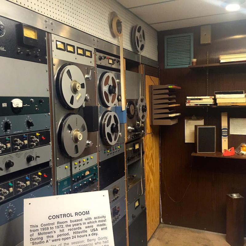 """Studio A"" Motown Records Museum recording rack"