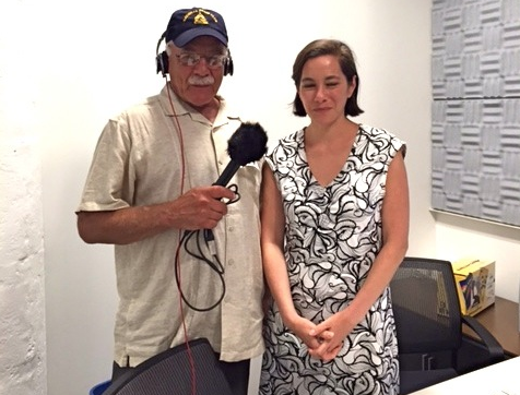 Tom Wilmer (right) with Sara Sarasohn at NPR Headquarters in Washington D.C.